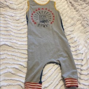 "RAGS ""Brave"" 4th of July Romper sz 5/6T"